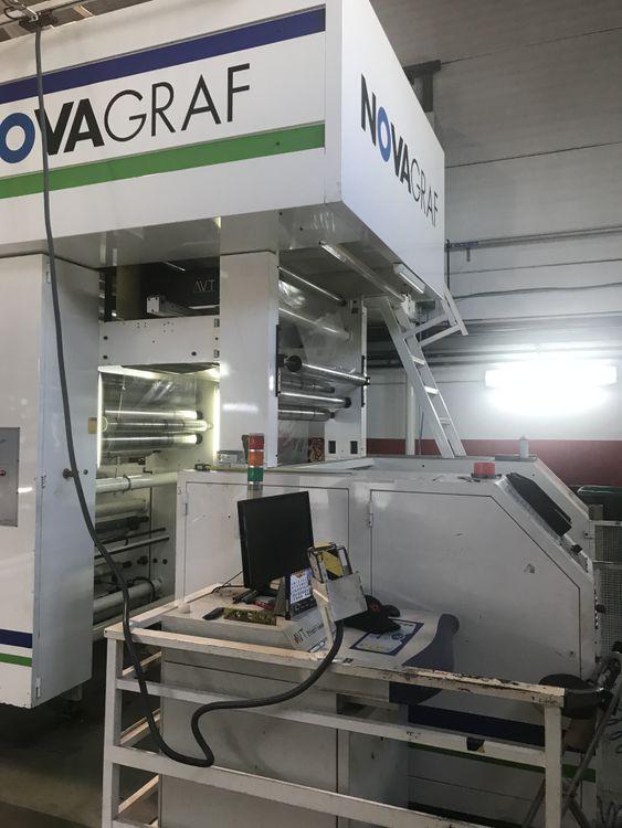 NOVAGRAF FL 40 — C.I flexo printing machine 8 colors