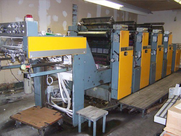 Solna 464, 4 colors Offset machine 48 X 64 Cm