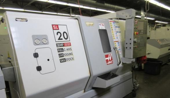 """Haas HAAS 32-BIT CNC CONTROL WITH 14"""" LCD SCREEN Max. 4000 rpm SL-20TL 2 Axis"""
