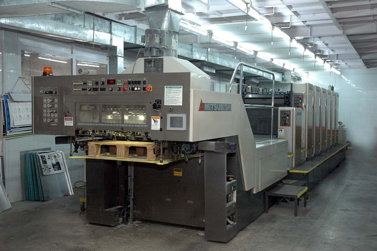 Mitsubishi D 2000 6 LX, 6 Colors Offset Machine Max. 22 x 23""