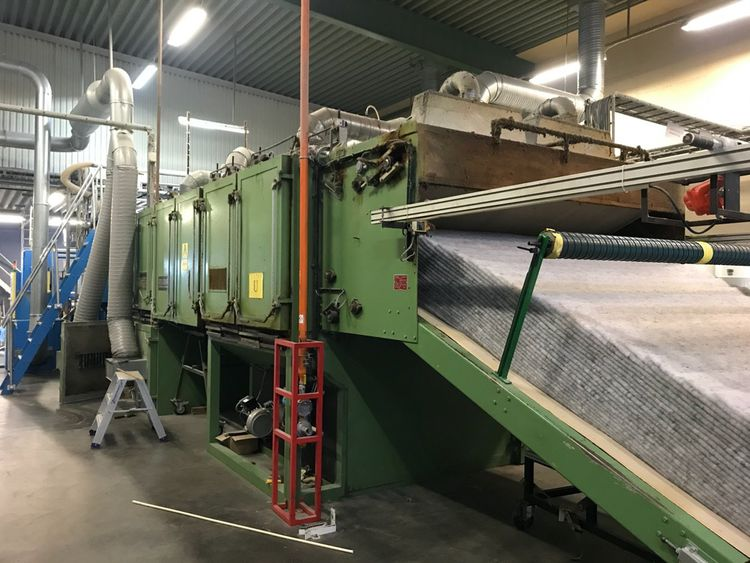 Santex thermobonding oven, yoc: 1996, ww: 2.5 m, double belt, 1 burner, cooling section