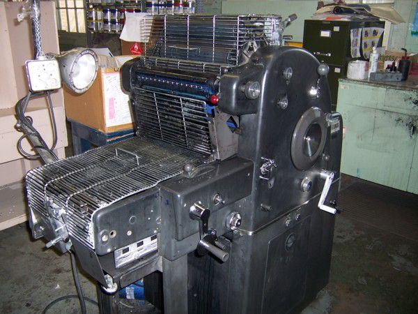 "AB Dick 360 CD, 1 color Offset machine 11"" X 17"""
