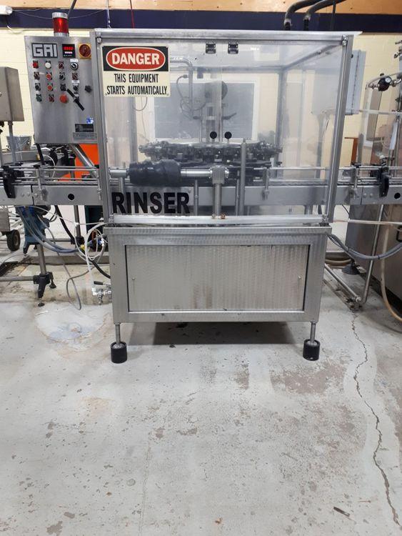 Tribloc - rinser GAI, pre-evacuation filler CIMEC, crowner Arol