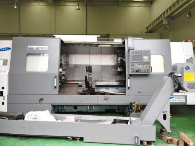 Samsung Fanuc Oi-Td Cnc Control 2000 rpm Smec (Samsung) Pl45LM Cnc Turning Center With Milling 2 Axis