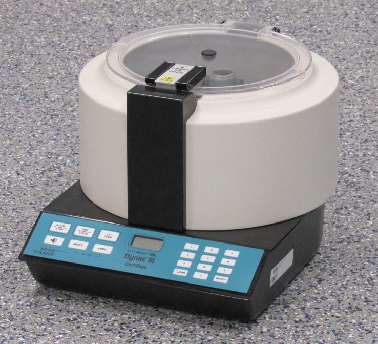 Clay Adams Dynac III, Tabletop Centrifuge with Rotor