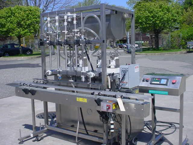 """Inline Filling Systems (IFS) FOUR HEAD STAINLESS STEEL AUTOMATIC """"SERVO"""" POSITIVE DISPLACEMENT FILLING MACHINE"""