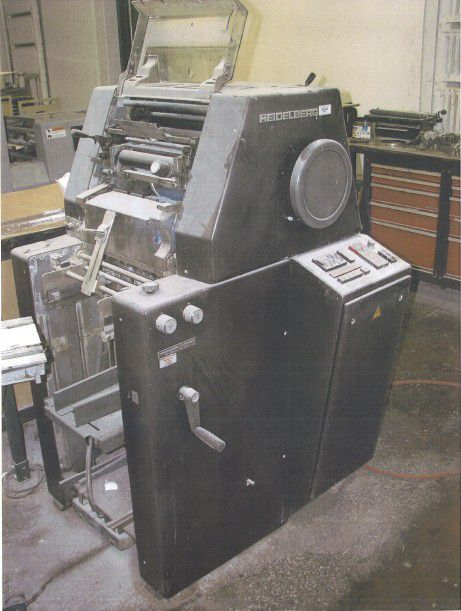 "Heidelberg TOK , 1 color Offset machine 11"" X 15½"""