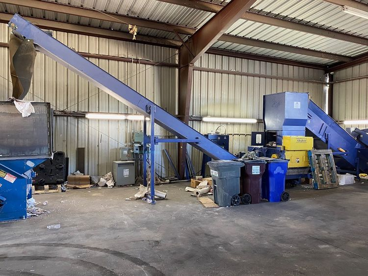 Allegheny Shredding System, Dumper, Sorting Table & Conveyors