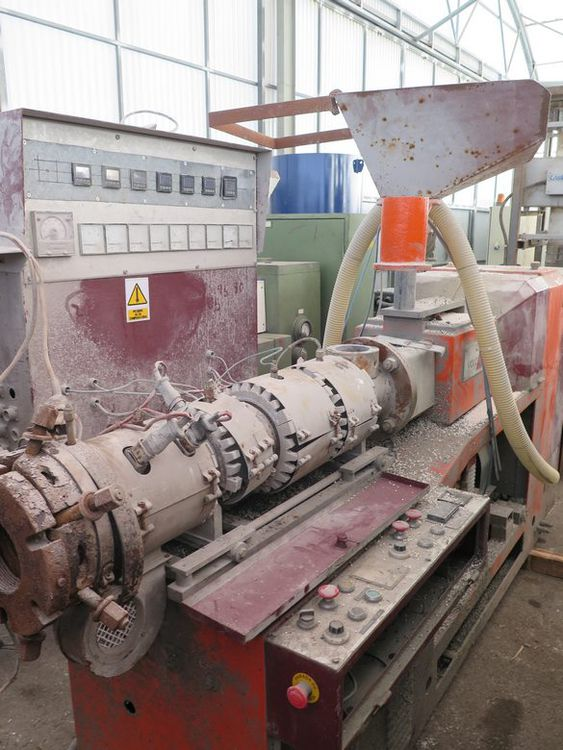 Volcan BK-50-93 twin conical screw extruder