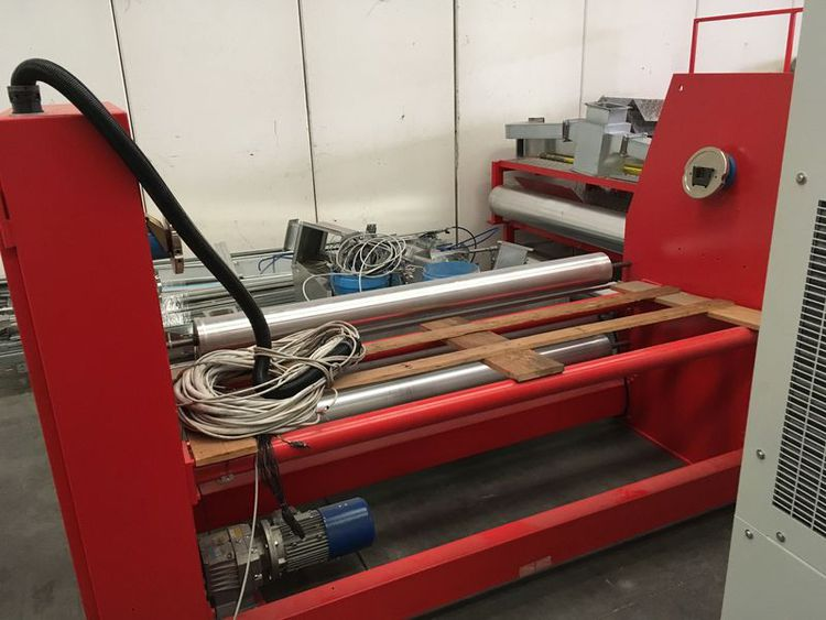 Mario crosta double powder scatter coating/lamination line, yoc: 2015, ww: 1.6 m