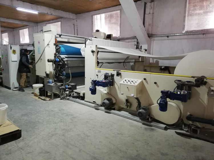 ICM 2700 mm industrial rolls Rewinder WITH LAMINATION of 2010, refurbished jan 2019, NEW REDUCTION  135.000 EUR