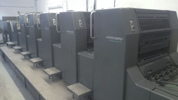 Heidelberg SM74-5PH+L 20 x 29 inch