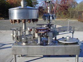 Fogg 16 VALVE STAINLESS STEEL ROTARY LIQUID FILLER/CAPPER