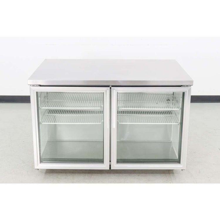 True TUC-48G 2 Glass Door Undercounter Refrigerator