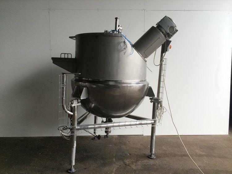 Giusti 500L Stainless hemispherical scrape surface steam jacketed process vessel