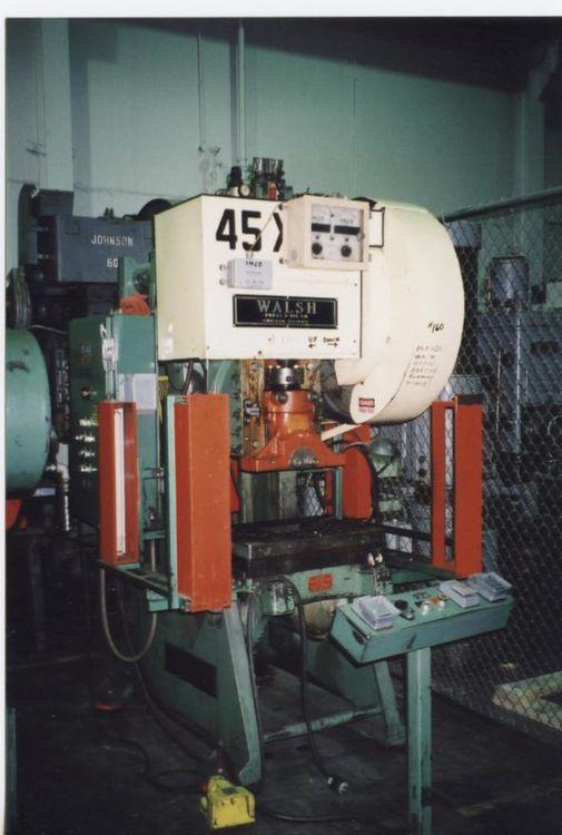 Walsh 45XAC Max. 45 Ton O.B.I. Punch Press