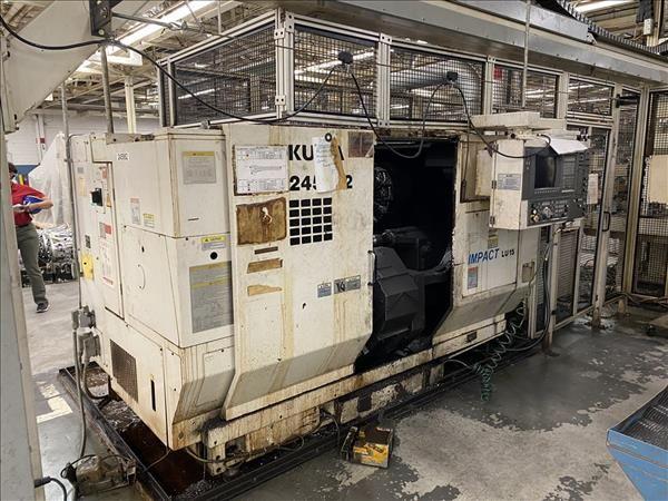 Okuma Okuma OSP-U100L CNC Control 4500 RPM IMPACT LU15 2SC X 600 DUAL TURRET CNC TURNING CENTER 2 Axis