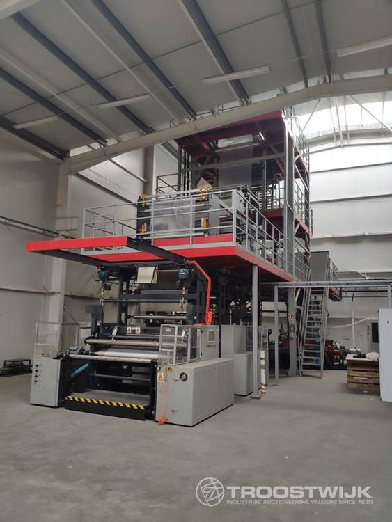 Online auction of recent extruders and flexo printing machines