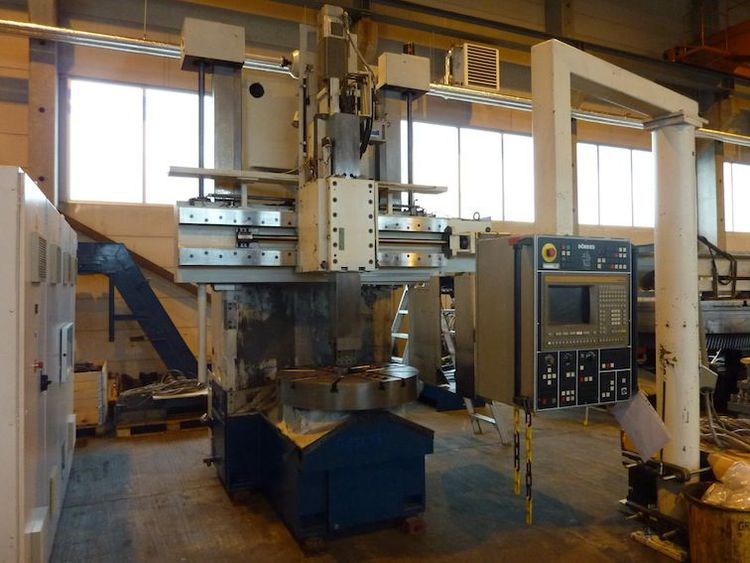 Dörries SIEMENS 850T CNC-control Max. 400 U/min VCE 1400/100 2 Axis CNC Vertical Turning Lathe