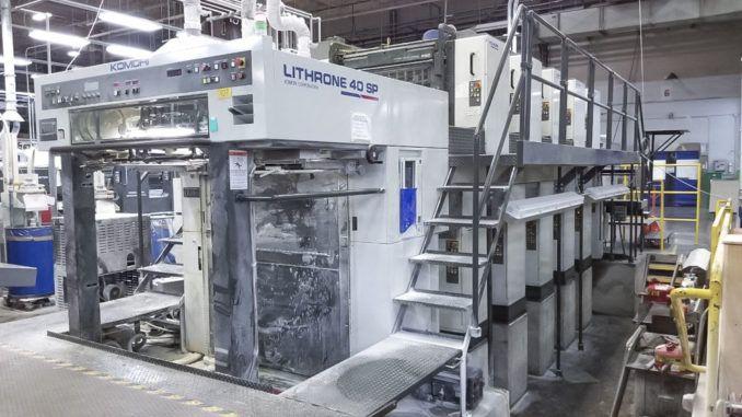 Komori L540SP Super Perfector 28 x 40 inch 10