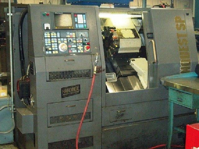 Hardinge Fanuc 18T CNC Control Max. 6000 rpm Conquest 42SP 2 Axis