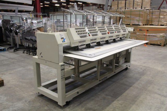 Brother BE-1206B-BC, embroidery machine. 6 heads 12 colors