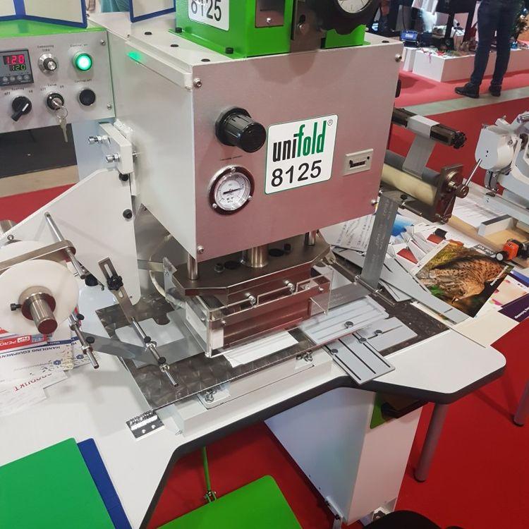 Unifold 8125 Hot stamping machine