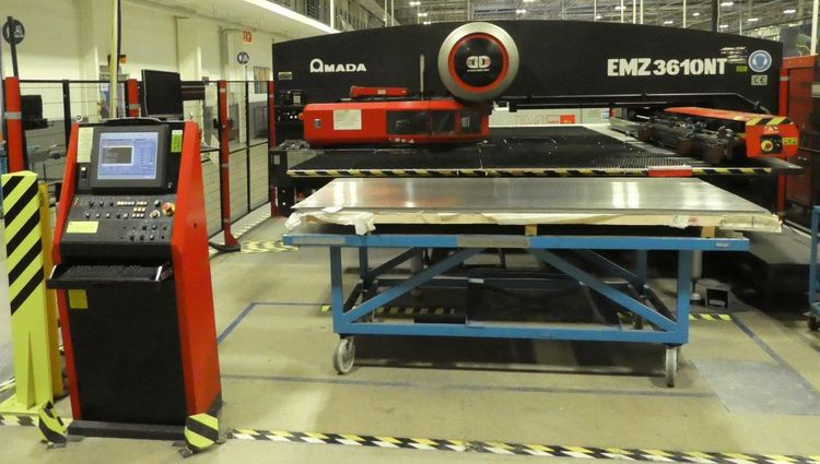 Amada EMZ3610NT CNC BRUSH TURRET PUNCH 30 tonnes (300kN)