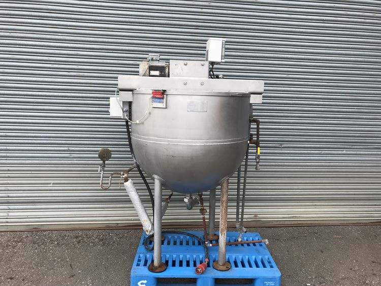 APV 500L Stainless jacketed mixing vessel