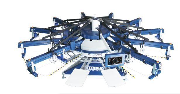 Adelco Cyclone carousel automatic printing press