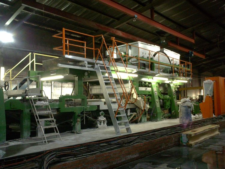 Celli Gino Fourdrinier Tissue Paper Machine, Rebuilt 2008 ! overhauled, still inline, very good condition 1850mm decle WI 16~30 gsm 15 TPD