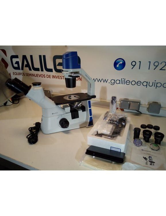 Euromex Oxion Inverso OX.2053-PLPH, Trinocular inverted microscope with phase contrast