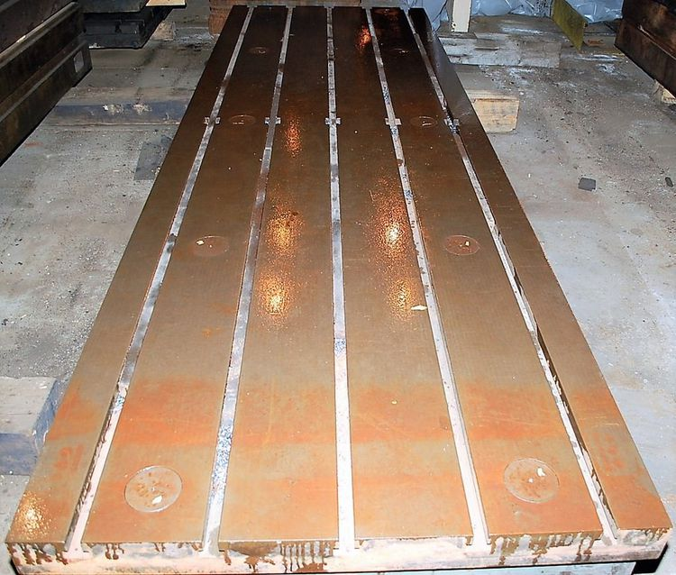 T-Slotted Cast Iron Floor Plate