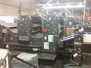Heidelberg 102ZP, Offset 2 Colours Press Machine 28x40
