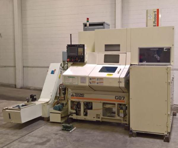 Wasino Fanuc 21I-TB CNC Control 4000 rpm G07-F CNC Lathe 2 Axis