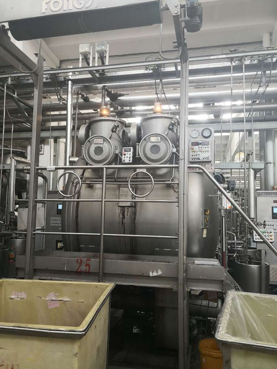 6 Fongs Dyeing machines 250, 500 Kg