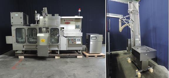 Elopak Pure Pak P-S50 Carton Form, Fill & Seal Machine