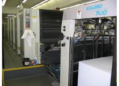 Roland 700 Type R7053B, 5 Colors Offset Machine