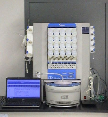 2 CEM Liberty 12 908505 Automated Microwave Peptide Synthesizer Automated Microwave Peptide Synthesizer