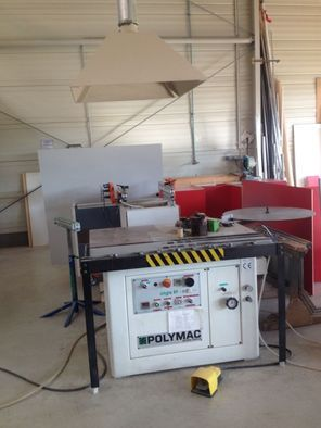 Polymac SINGLE 89 N, Semi automatic contour edge banding machine