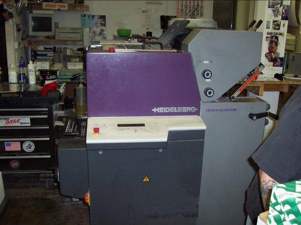 Heidelberg QM 46-2, 2 colors Offset machine 13 X 18 In.