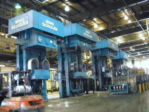 4 Schuler, SMG FORGING PRESS LINE Max. 3968 Ton