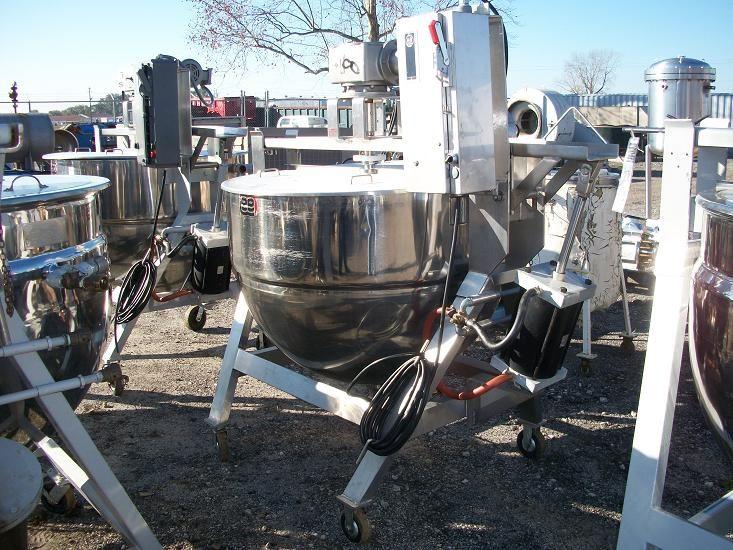 Lee 200 Gallon SS Lee Kettle w/ Scraper Agitator