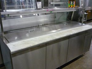 Others Refrigerated Salad Table With Sneeze Gaurd