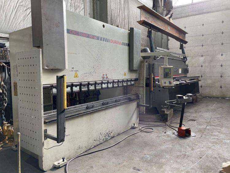 Durma HAP 30160 CNC Hydraulic Press Brake 176  US Tons