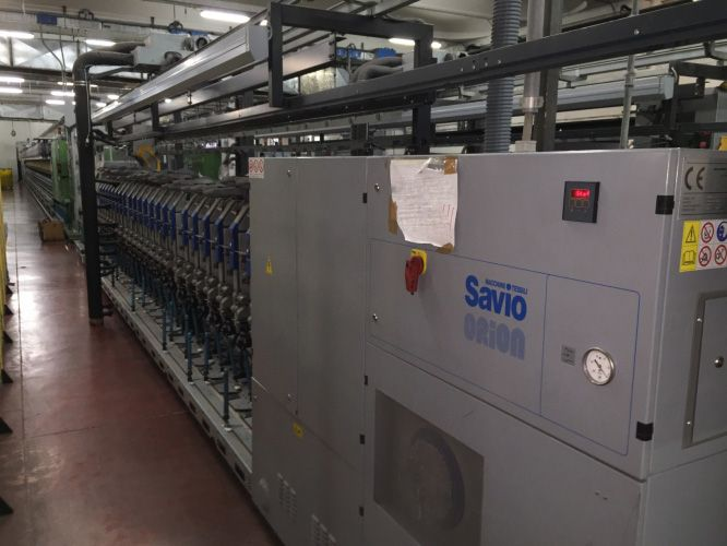 Cognetex, Savio IDEA 73R, Orion I Ring spinning machines linked with coner