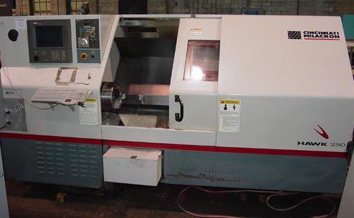 Cincinnati Acra 2100 CNC 3300 RPM MILACRON HAWK 250 CNC TURNING CENTER 2 Axis