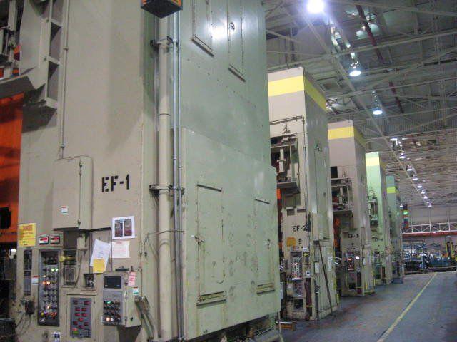 4 Danly DU4-1600-900-180-96 Max. 2500 Ton