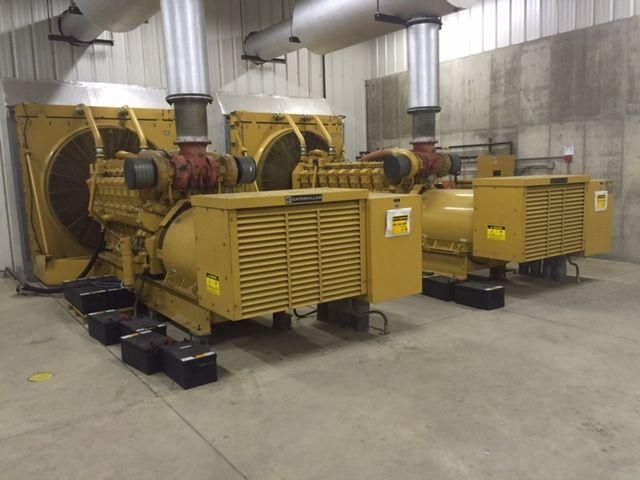 2 Caterpillar Diesel generator 1750 kva