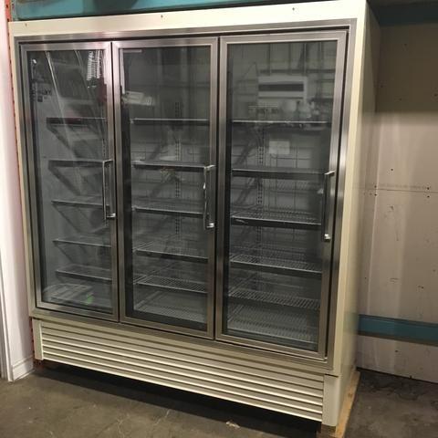 Hussmann Triple Glass Doors Display Merchandiser Freezer